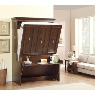 Natanielle Full Murphy Bed with Desk | Walnut - $2