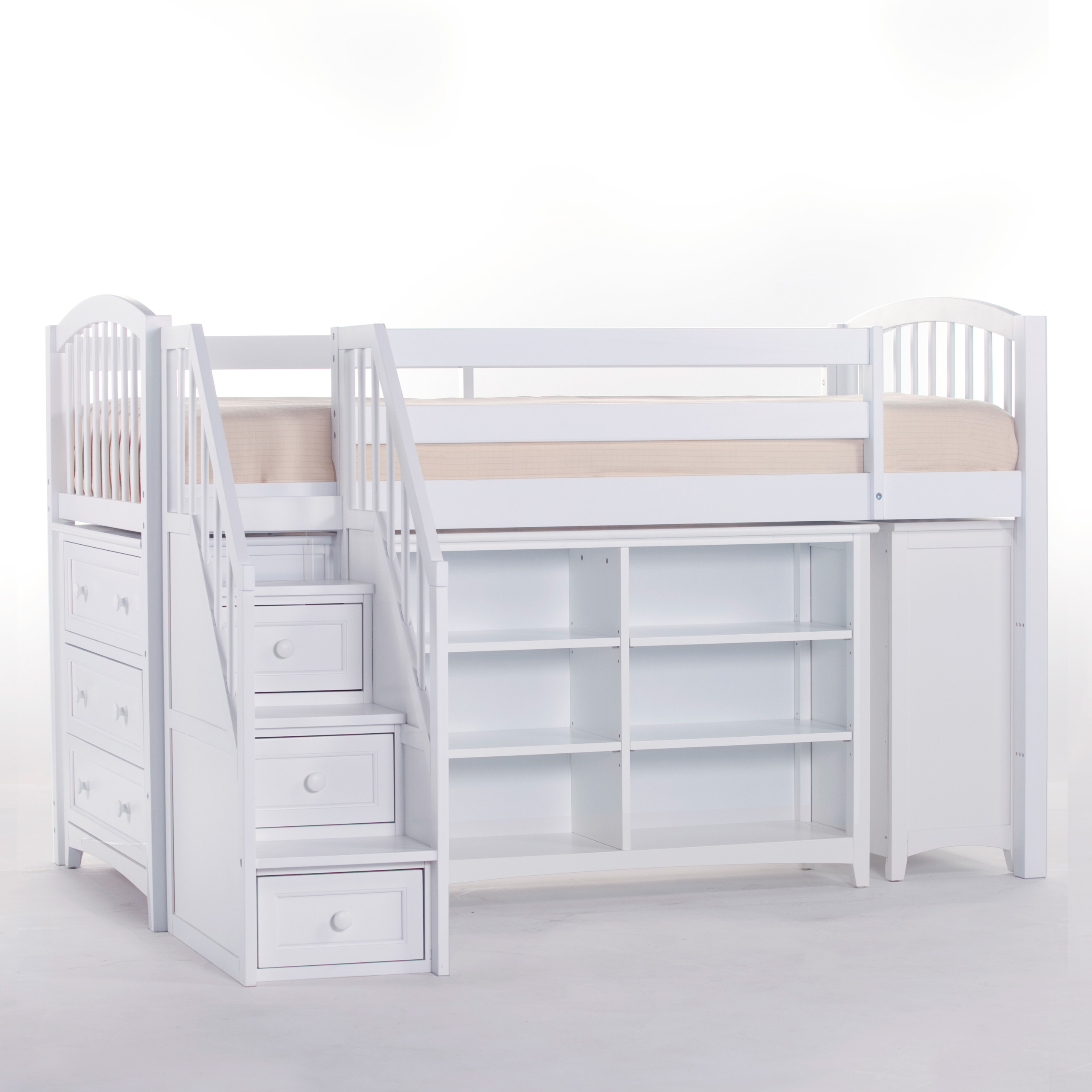 NE Kids Schoolhouse Storage Junior Loft Bed With Stairs .