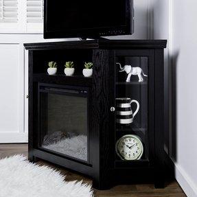Admirable Corner Electric Fireplace Tv Stand Visual Hunt Interior Design Ideas Philsoteloinfo