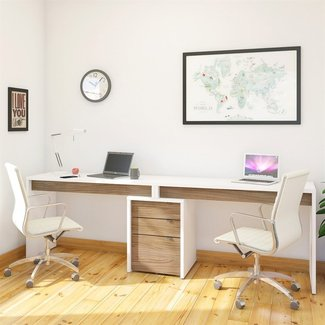 Nexera 400610 Liber-T 2-Person Desk | ATG Stores