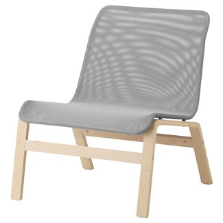 NOLMYRA Easy chair Birch veneer/grey - IKEA