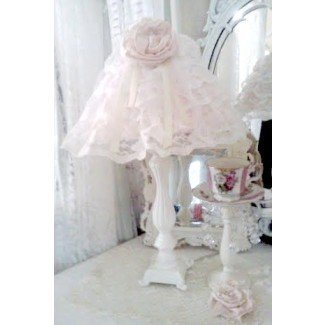 Olivia's Romantic Home: Shabby Chic Lamp Shade Satin Rosette