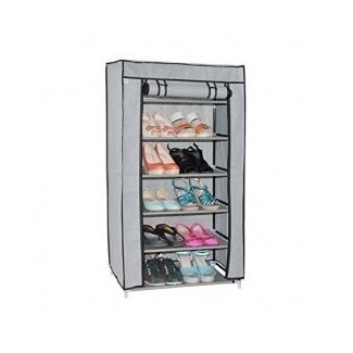 OTTFF Single Door Dustproof Portable Clothes Shoe Rack ...