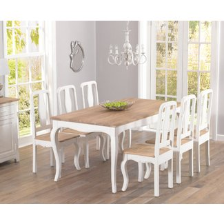 Parisian 175cm Shabby Chic Dining Table And Chairs | Jabberset