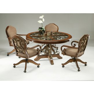 Dinette Sets With Caster Chairs You Ll, Dining Room Sets With Roller Chairs
