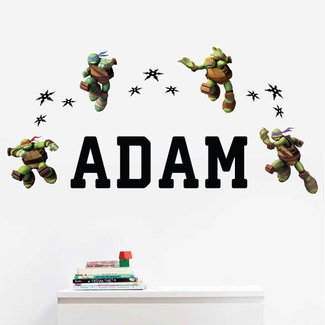Personalized Teenage Mutant Ninja TurtlesTM Kids Name Wall Decal