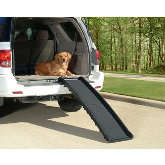 Pet Ramps For Large Dogs SUV Truck Folding Doggie Stairs