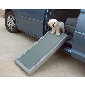 PetSafe Solvit Half Ramp II, 17 in. W x 39 in. L, Portable Lightweight Dog and Cat Ramp, Best for Shorter Inclines
