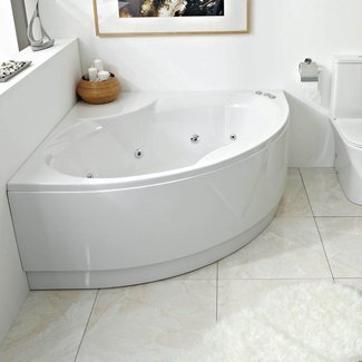 Phoenix Bathrooms - Nice Corner Bath inc Panel