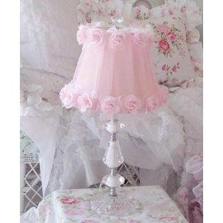 Pink Flowered Lamp Shade. | shabby chic decorating ideas ...