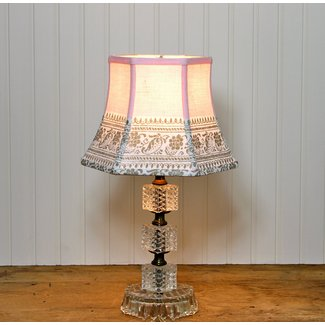 Pink Lamp Shade Lampshades Shabby Chic Vintage Tablecloth