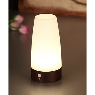 PIR Motion Sensor Night Light,Lovingvs Battery-Operated Retro Small Cordless LED Table Lamp Bar Decrative lighting Lamps for Washstand Bedside,Bedroom,Bathroom,Hallway 3 AAA
