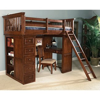plans for full size loft bed with desk | Discover