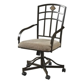 Powell Jefferson Dining Arm Chairs with Casters - Set of
