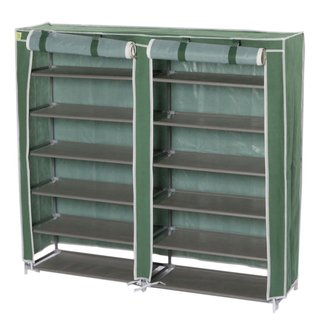 Practical 6 Tiers Shoe Cabinet Shoe Rack with Cover Light