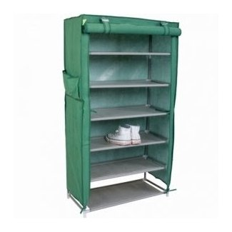 Practical 6 Tiers Shoe Rack with Cover Light Green |