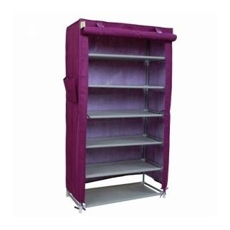 Practical 6 Tiers Shoe Rack with Cover Purple | Alex