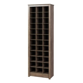 Prepac Space-Saving Shoe Storage Cabinet in Drifted Gray