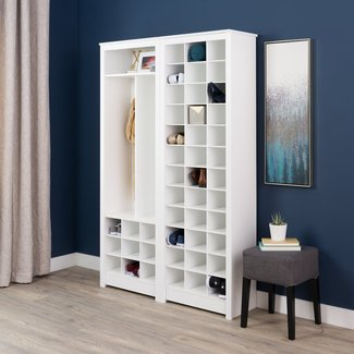 Prepac Space-Saving White Shoe Storage Cabinet | Walmart ...