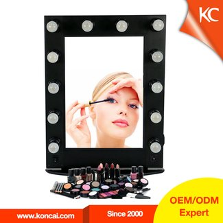 Professional Hollywood style Aluminum makeup mirror with ...