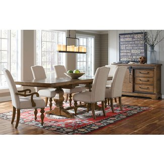 Pulaski American Attitudes X Pattern Double Pedestal Table