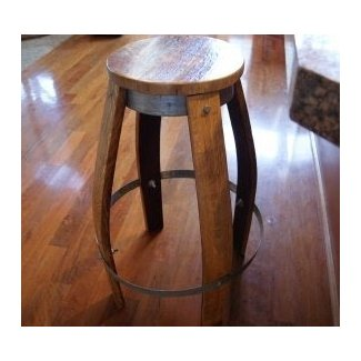 Quality Wine Barrel Bar Stools | Custom Set Furniture