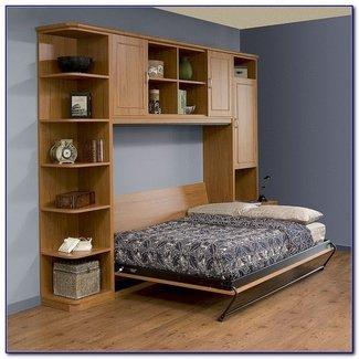 Queen Size Murphy Bed With Desk - Bedroom : Home