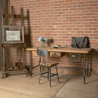Reclaimed Desk | modern wood office desk | Industrial ...