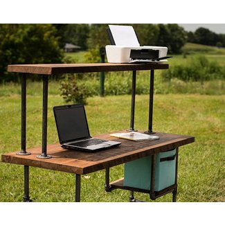 Reclaimed Wood Desk Computer Desk Home Office Desk Barn