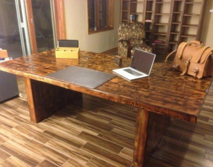 Reclaimed Wood Home Office Desks Recycled Things Jpg 325x325 Reclaimed  Office Desk Walnut Rustic Picturesque