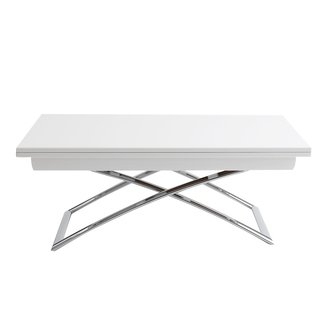 Rectangular White Adjustable Height Coffee Table Ikea With ...