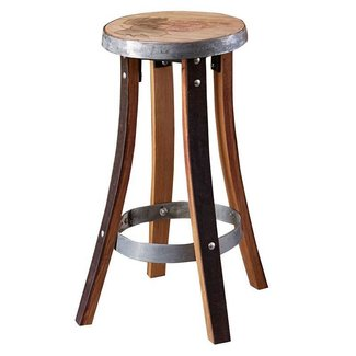 Recycled Barrel Stave Pub Stool Grape #17439