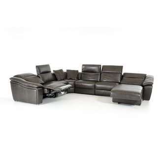 Refined Genuine Leather Sectional Plano Texas V-JASPER