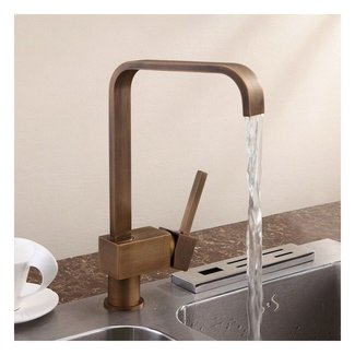 Relia Single Handle Antique Brass Kitchen Sink Faucet