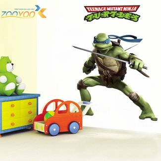 Removalbe Vivid Teenage Mutant Ninja Turtles Wall Sticker ...