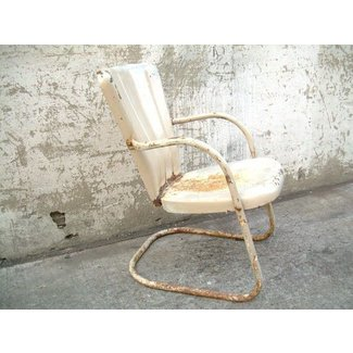 Retro Metal Lawn Chair Vintage Porch by TheArtifactoryStudio
