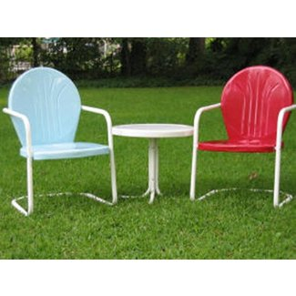 Superb Vintage Metal Lawn Chairs Visual Hunt Interior Design Ideas Clesiryabchikinfo