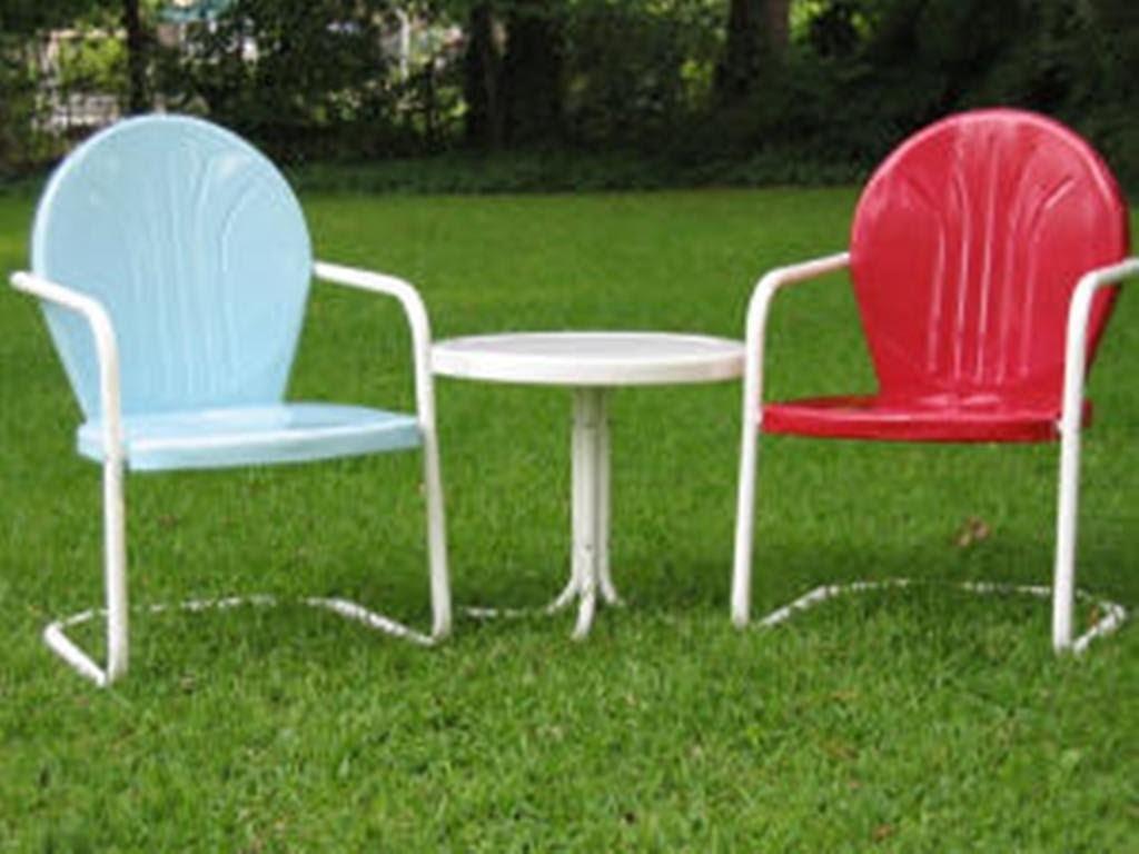 Retro Metal Lawn Chairs Paint Colors : Retro Metal Lawn