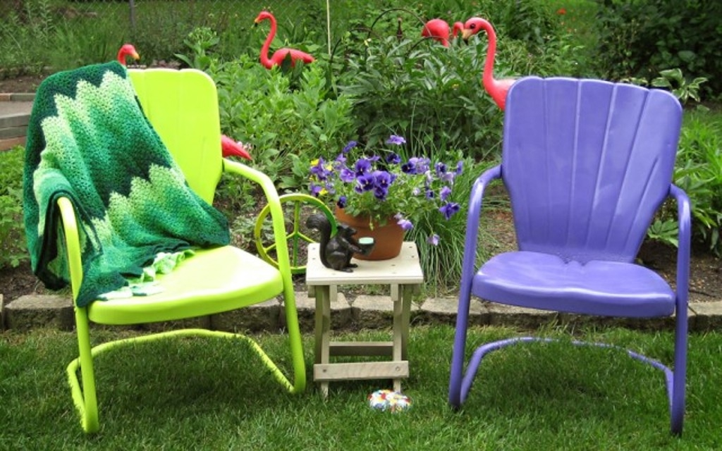 Retro Metal Lawn Chairs Vintage For Children .