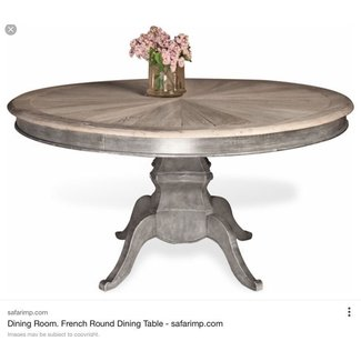 Reve French Country Reclaimed Elm Wood Dining Table ...