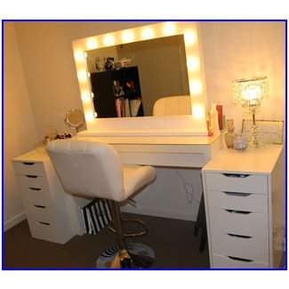 ROGUE Hair Extensions: IKEA MAKEUP VANITY & HOLLYWOOD LIGHTS!