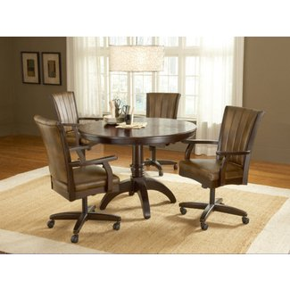 Rolling dinette chairs, casual dining room sets dining ...