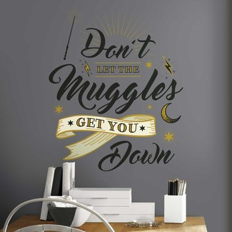 RoomMates RMK3608GM Harry Potter Muggles Quote Peel and Stick Giant Wall Decals