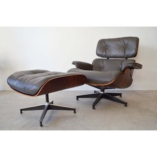 Rosewood Eames Lounge Chair with Matching Ottoman at 1stdibs