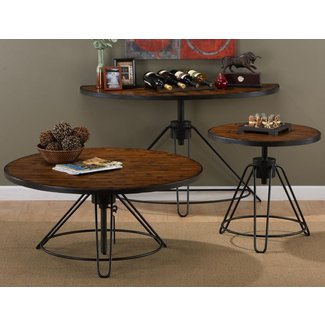 Round Adjustable Height Coffee Table | Coffee Table Design ...
