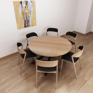 Round Dining Table For 6 With Lazy Susan install basement