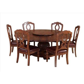 Round Dining Table For 6 With Lazy Susan |