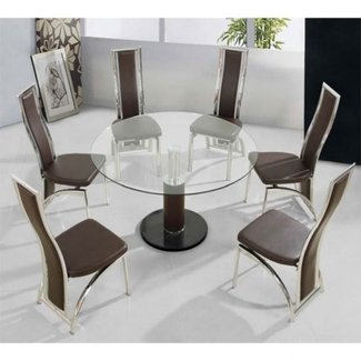 Round Glass Dining Table For 6 Cool Item Associated With