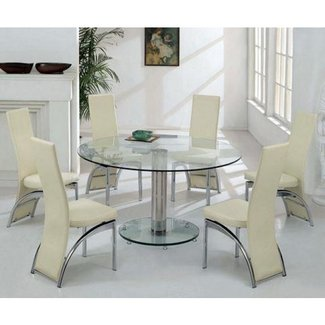 Round Glass Dining Table For 6 Wonderful Product Designed . 10f1fed3586c