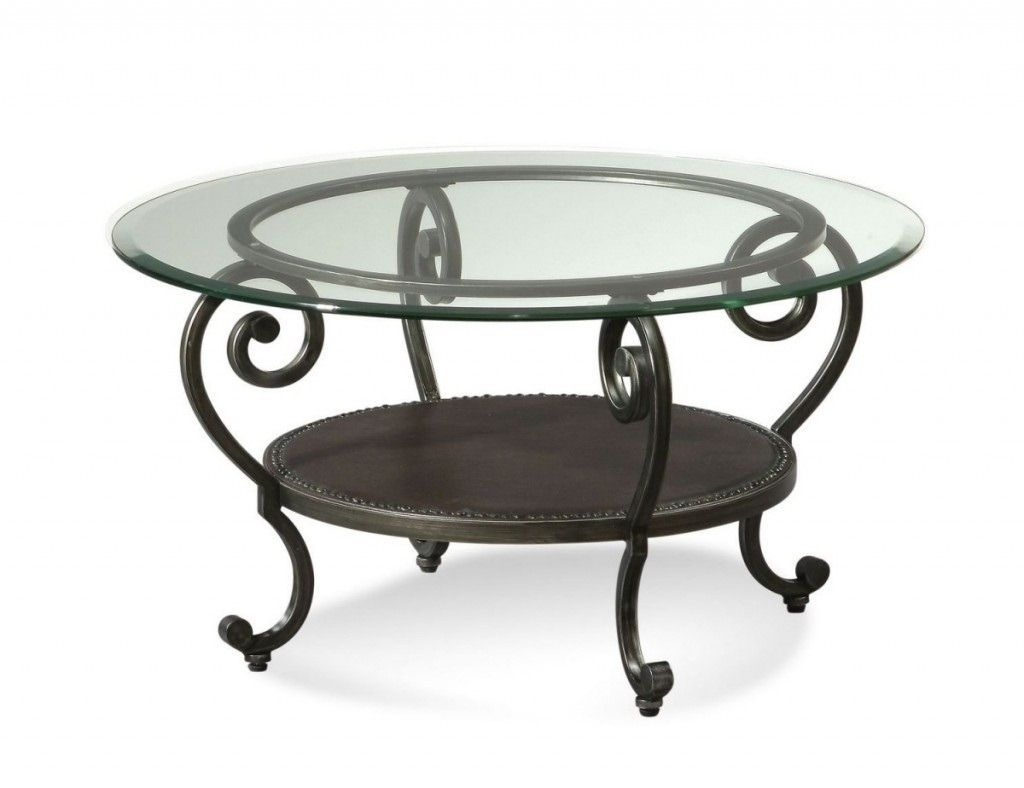 Round Glass Top Mixed Antique Black Wrought Iron Round .